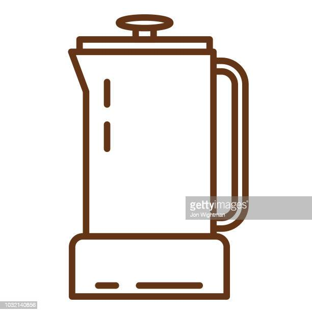 Cafe Line Icon French Press
