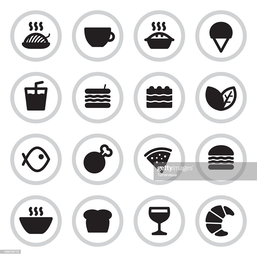 Cafe & Restaurant Menu Icons | Black : stock illustration