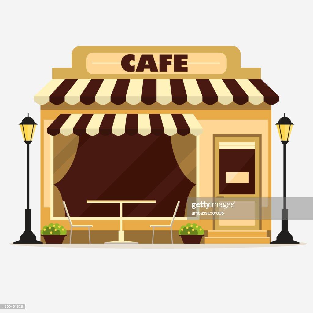 Cafe, Street shop facade