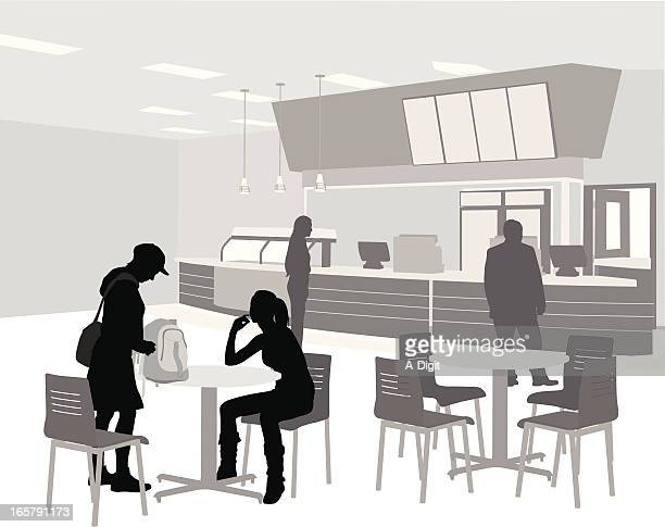 Cafeteria Vector Silhouette