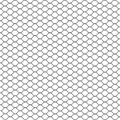 Cage. Grill. Mesh. Octagon Background. Vector