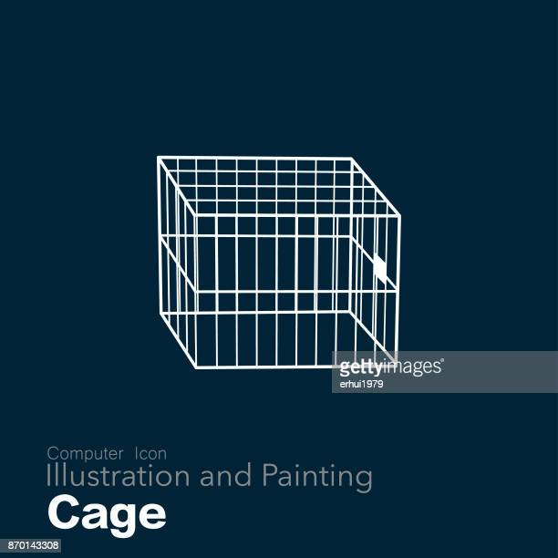 illustrations, cliparts, dessins animés et icônes de cage - confinement clip art