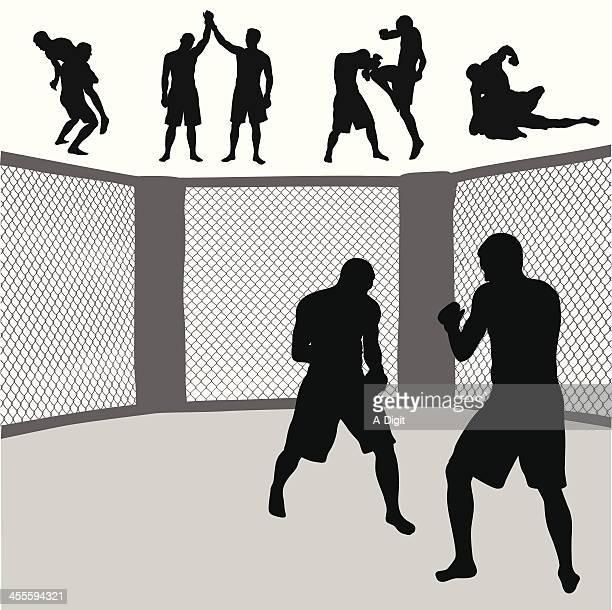 MMA cage Vector Silhouette