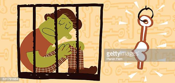 caged - alternative therapy stock illustrations, clip art, cartoons, & icons