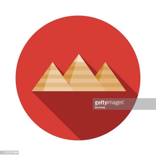 cairo pyramids egypt icon - mycenae stock illustrations