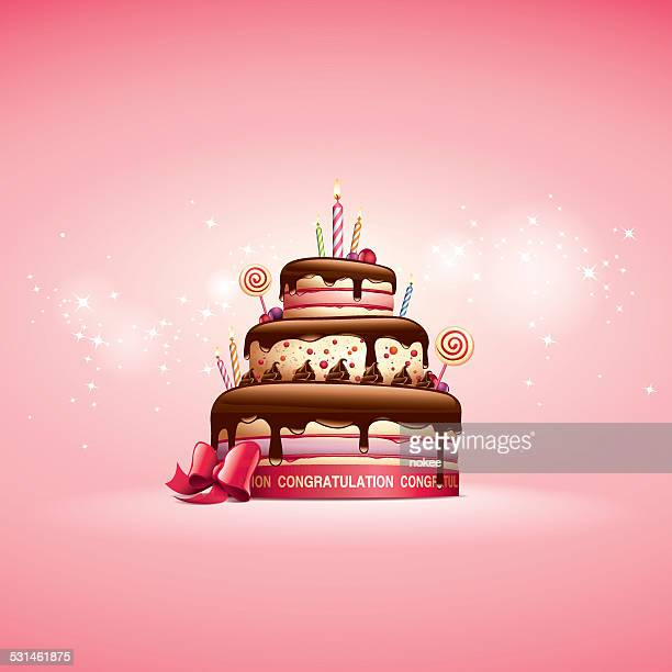 cake - birthday card - birthday cake stock illustrations
