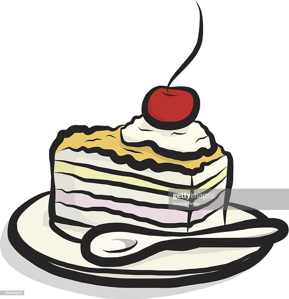 Kuchen Comic Vektorgrafik Getty Images