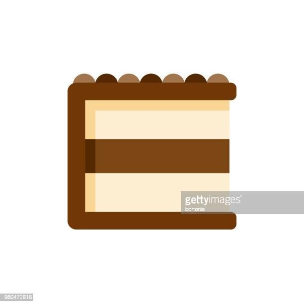 cake flat design dessert icon - icing stock illustrations, clip art, cartoons, & icons