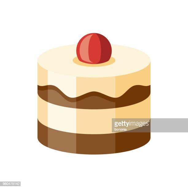ケーキ フラット デザイン デザート アイコン