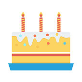 cake Flat Vector Icon