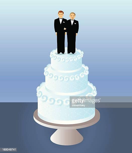 ilustrações de stock, clip art, desenhos animados e ícones de bolo de dois grooms - casais de lesbicas