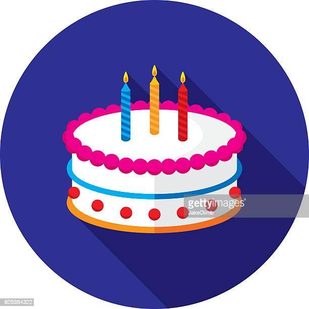 cake icon flat - cake stock illustrations, clip art, cartoons, & icons