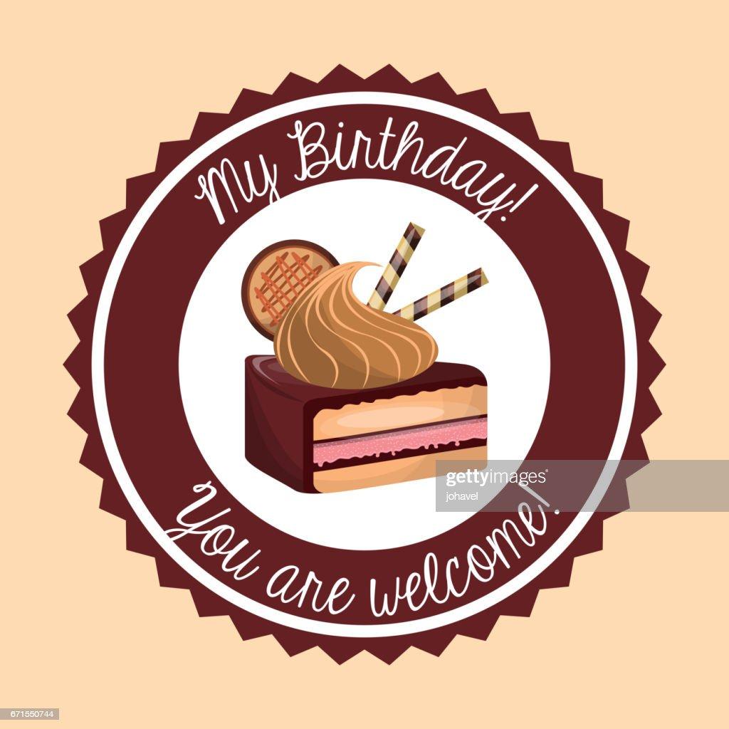 Cake Icon Happy Birthday Design Vector Graphic Vector Art Getty Images
