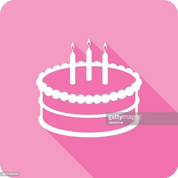 cake icon silhouette - cake stock illustrations, clip art, cartoons, & icons
