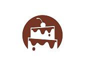 Cake Shop Symbol Template Design Vector, Emblem, Design Concept, Creative Symbol, Icon