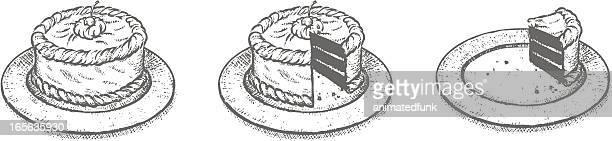 ケーキのスケッチ