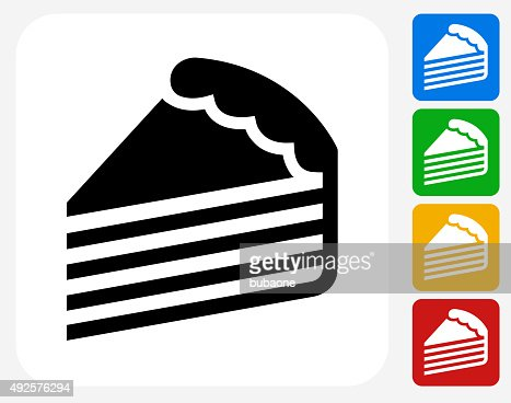 Cake Slice Icon Flat Graphic Design Vector Art Getty Images