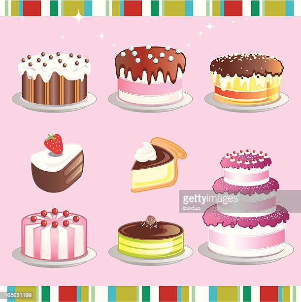 cake - whipped food stock illustrations, clip art, cartoons, & icons
