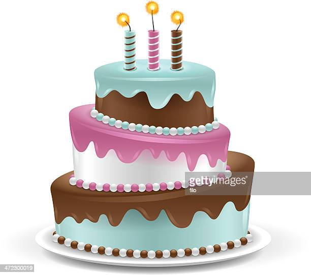 cake - birthday cake stock illustrations