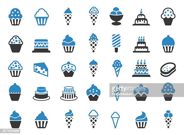 Cakes and Cupcakes icon set