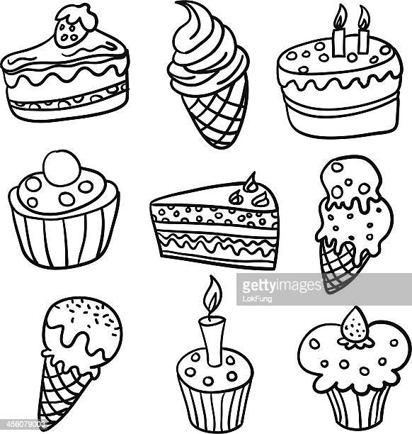 Cakes collection in Black and White