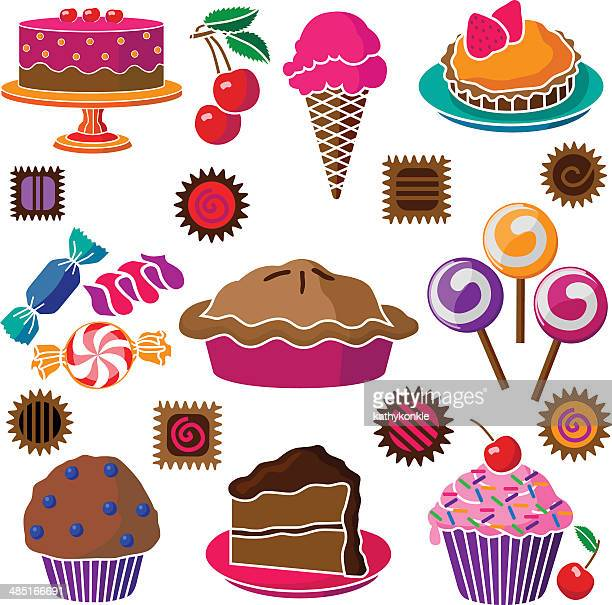 cakes pies and candy