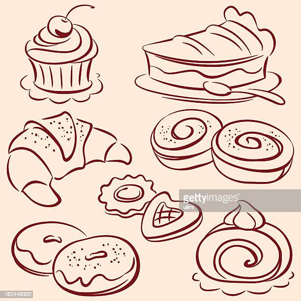 cakes - cookie stock illustrations, clip art, cartoons, & icons