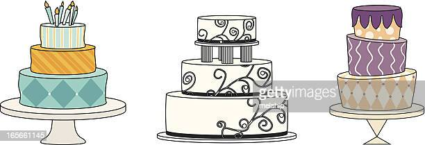 cakes! - dessert topping stock illustrations, clip art, cartoons, & icons