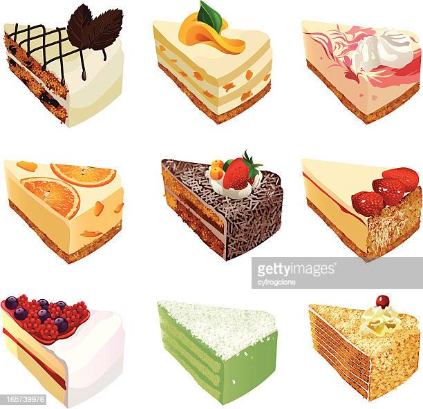 cakes - brownie stock illustrations, clip art, cartoons, & icons