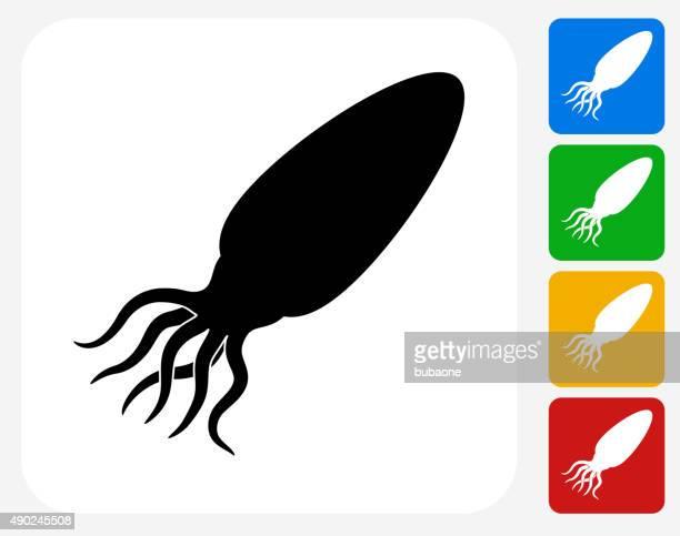 Calamari Icon Flat Graphic Design