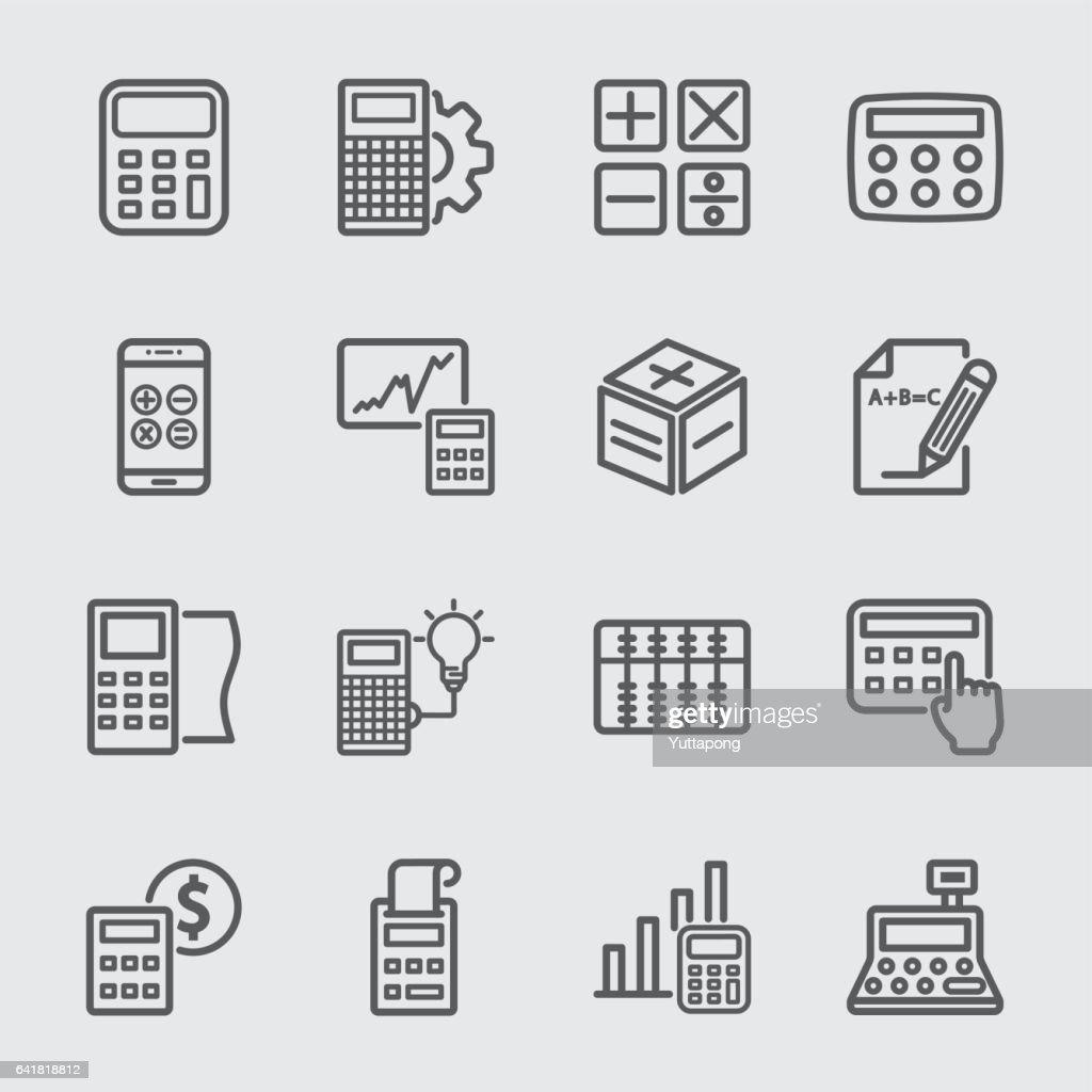 Calculation line icon