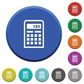 Calculator beveled buttons