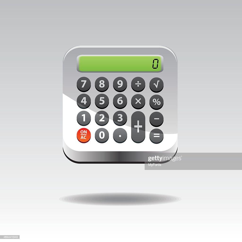 3D Calculator Button
