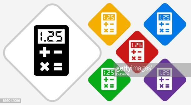Calculator Color Diamond Vector Icon