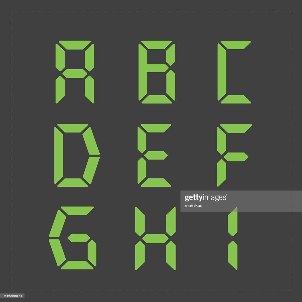 Calculator digital green text. : Vector Art