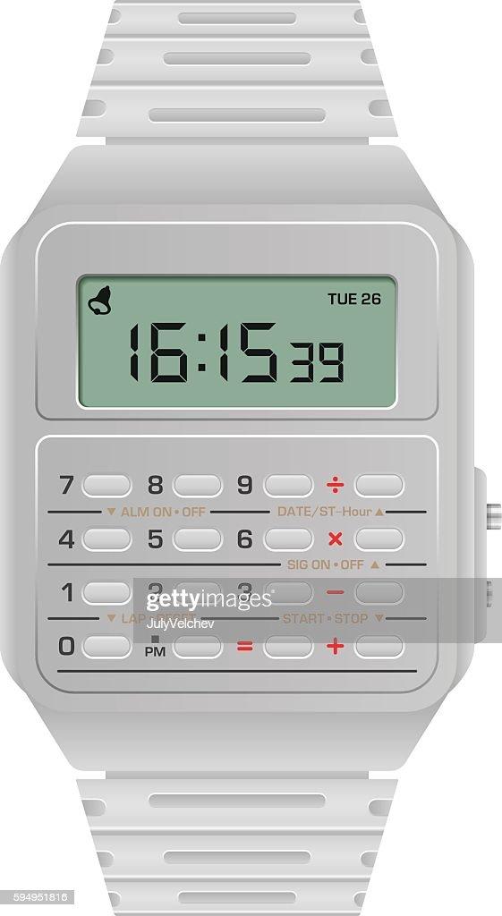 Calculator digital watch