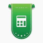 Calculator Green Vector Icon Design