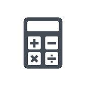 Calculator icon. Accounting sign. Calculate finance symbol - stock vector