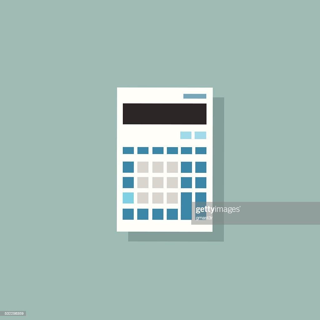 calculator icon color flat design vector