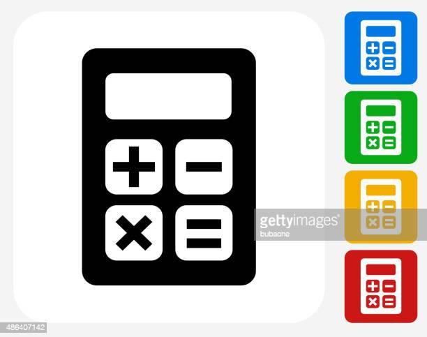 ilustrações de stock, clip art, desenhos animados e ícones de ícone de calculadora flat design gráfico - matematica