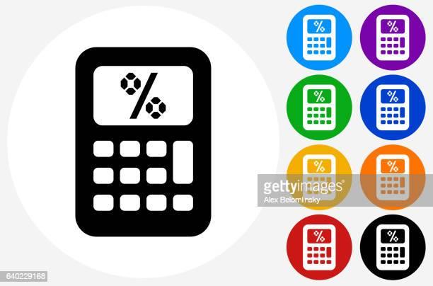 ilustrações de stock, clip art, desenhos animados e ícones de calculator icon on flat color circle buttons - matematica