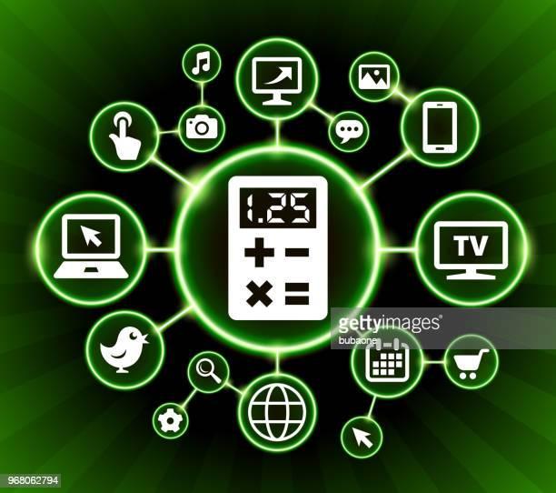 Calculator Internet Communication Technology Dark Buttons Background