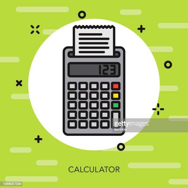ilustrações, clipart, desenhos animados e ícones de ícone de e-commerce calculadora linha fina - subtração