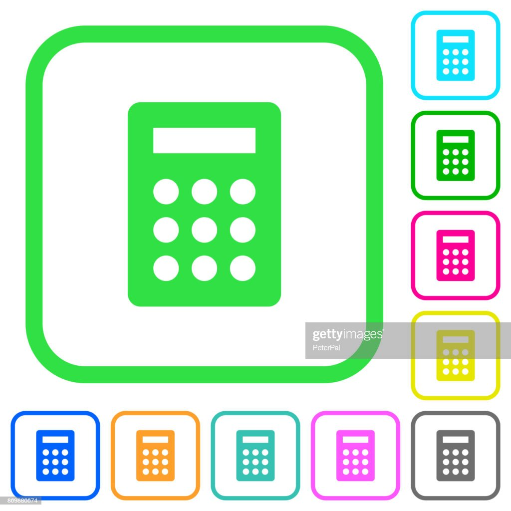 Calculator vivid colored flat icons icons