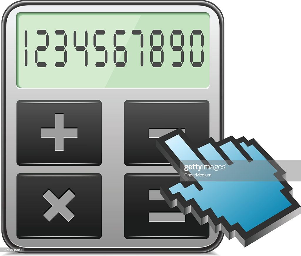 Calculator with hand curser