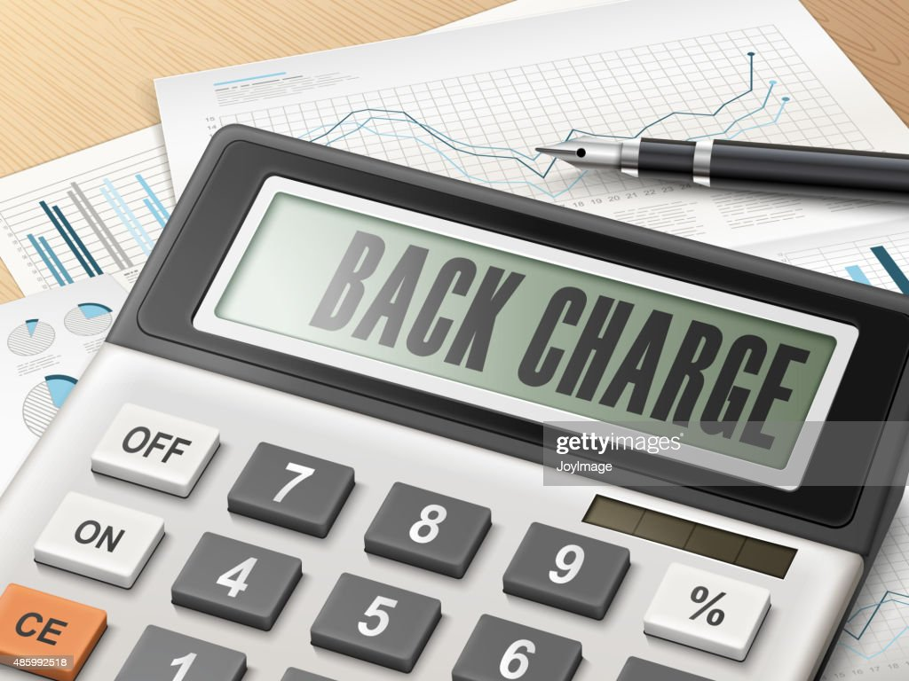 calculator with the word back charge