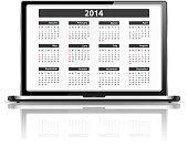 Calendar 2014 in Laptop