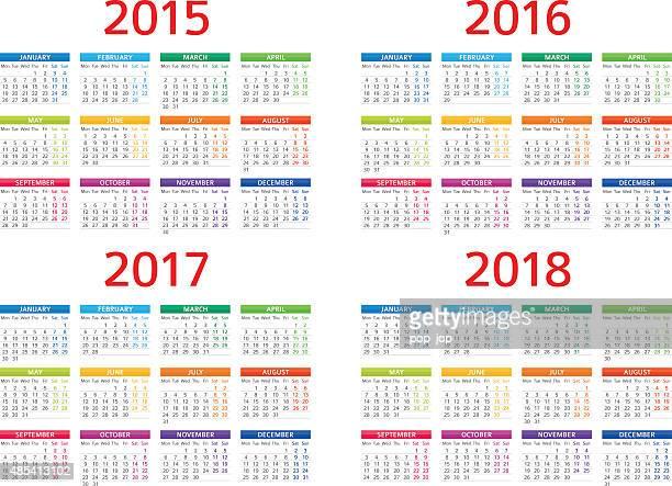 Calendário 2015, 2016-Ilustração de 2017 208