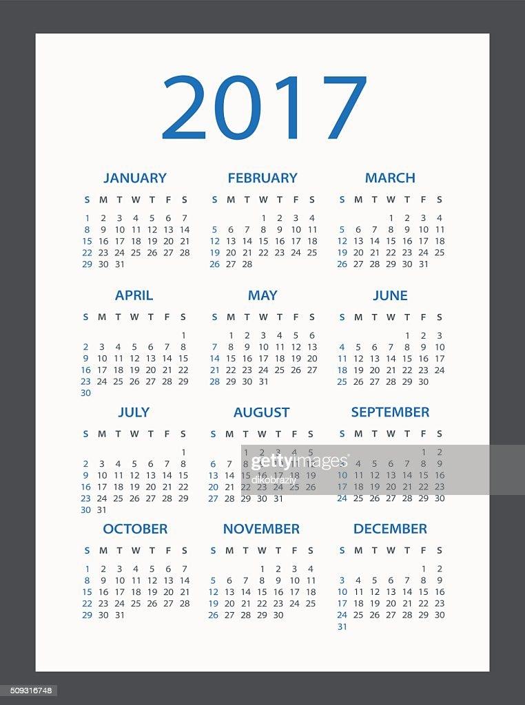 Calendar 2017 - illustration