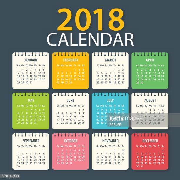 Calendar 2018 - American